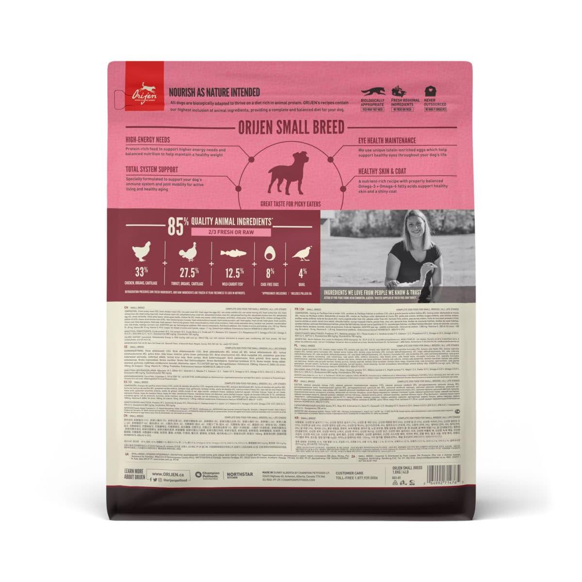 Orijen Small Breed koiranruoka 1,8kg