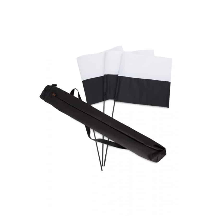 Firedog merkintälippusetti musta/valkoinen 3 kpl + pussi